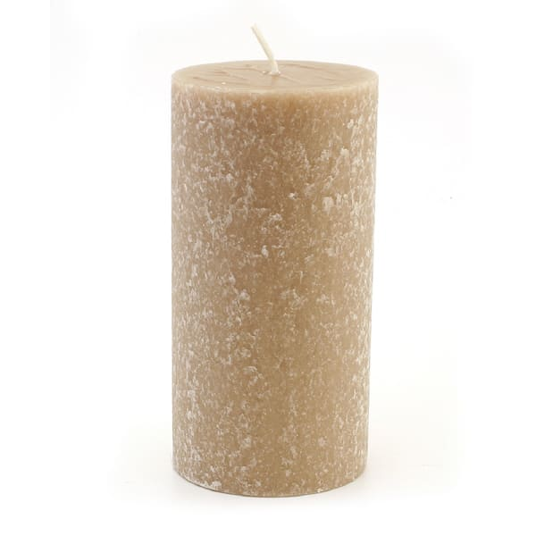 Root Candles  3 x 6-Inches  Taupe Unscented Timberline Pillar Candle