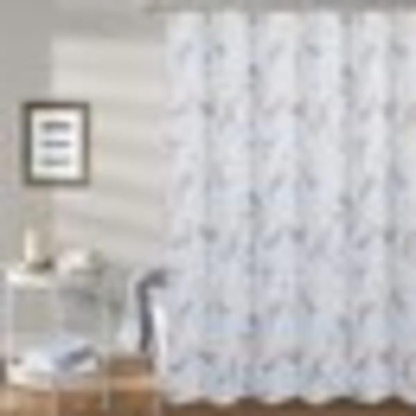 Petals Printed Waffle 13pc Showr Curtain Set