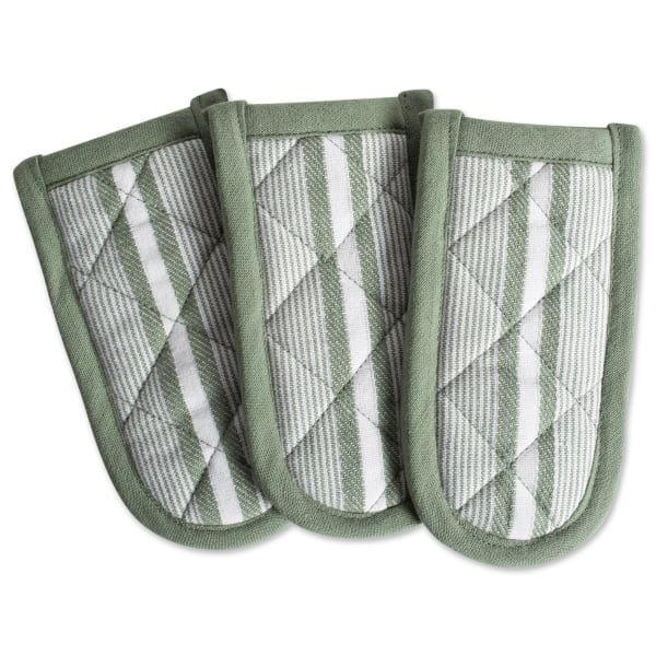 Stripe Olive Set of 3 Pan Handles