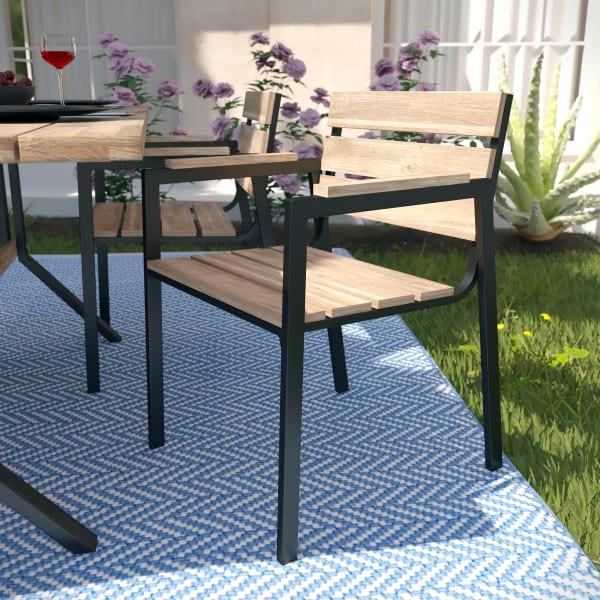 Grayton  Pair Outdoor Dining Chair