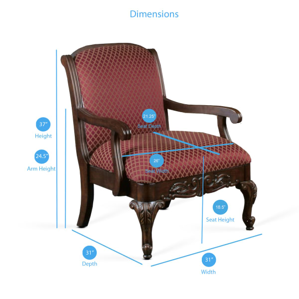 Shalee Magenta Arm Chair