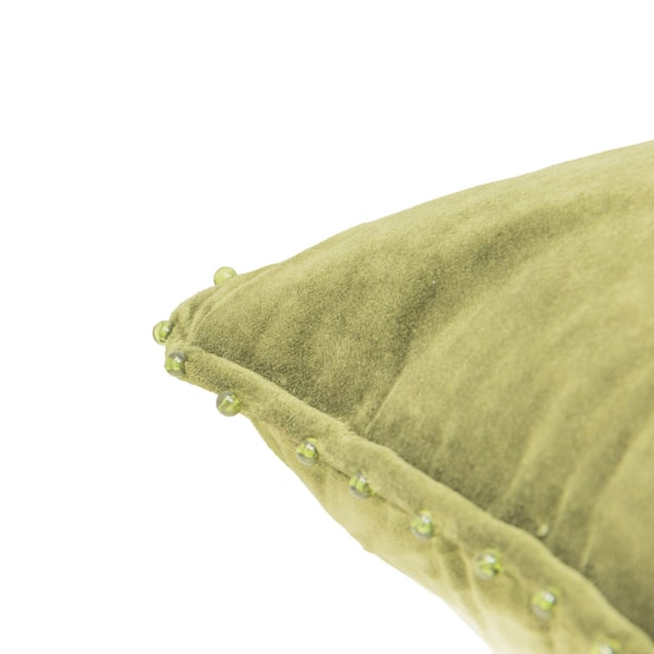 Pier 1 Green Velvet Lumbar Pillow
