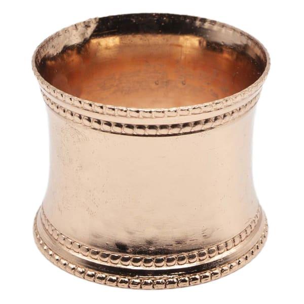 Pier 1 Hammered Napkin Ring Copper Set of 6