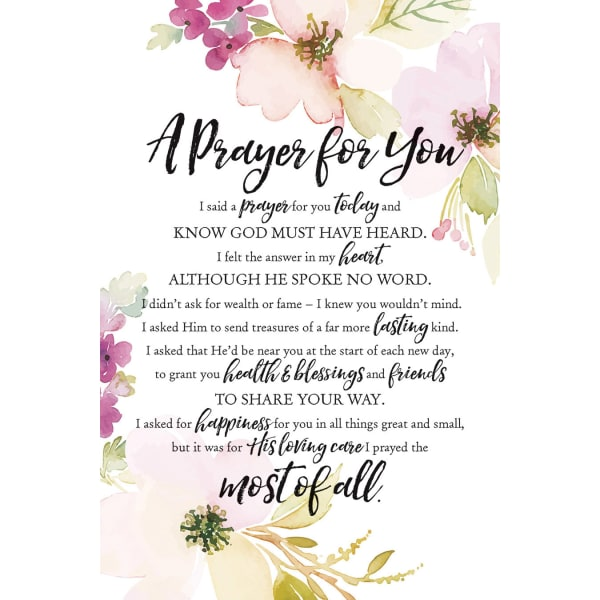 A Prayer For You Wood Plaque with Easel