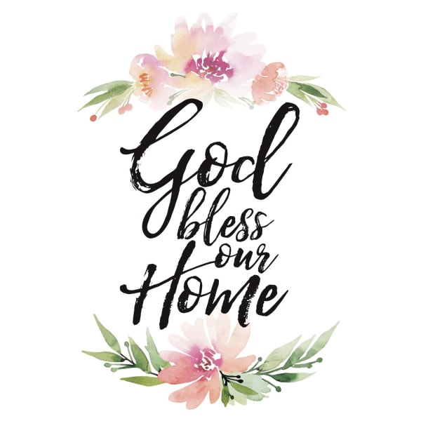 God Bless Our Home Wood Plaque with Easel