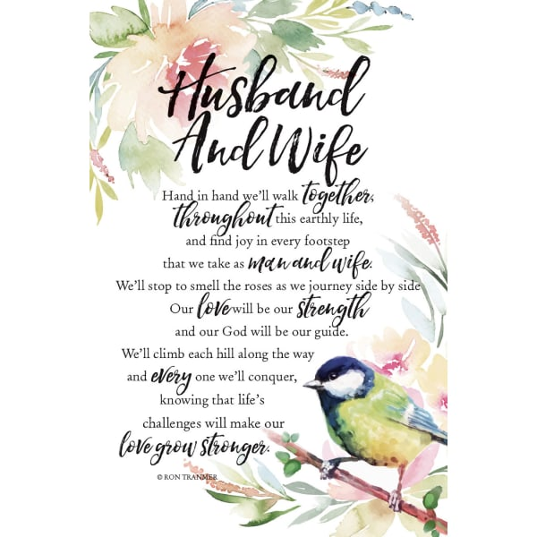 Husband And Wife Wood Plaque with Easel