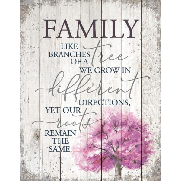 FamilyLike Branches On A Tree Wood Plaque