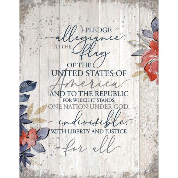 I Pledge Allegiance Wood Plaque