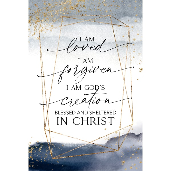 I Am Loved Wood Plaque with Easel and Hanger
