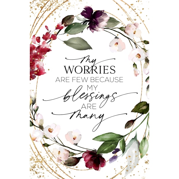 My Worries Are Few Wood Plaque with Easel and Hanger
