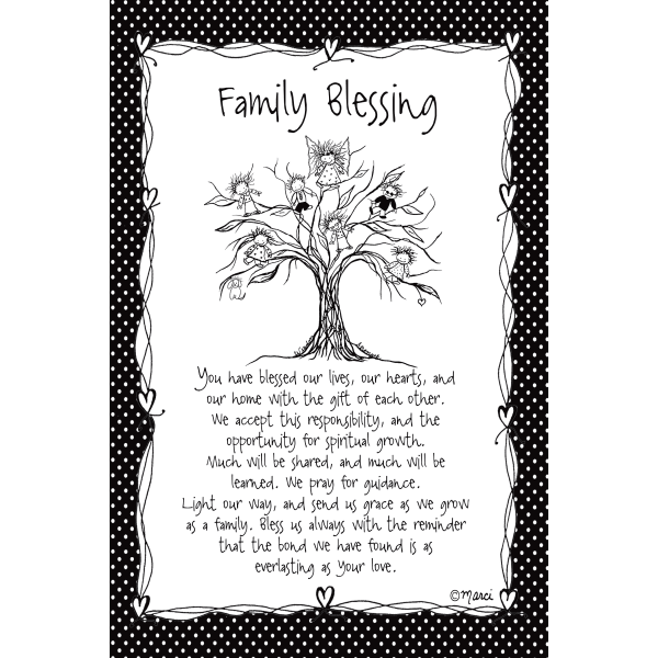 Family Blessing Children of the Inner Light Wood Plaque