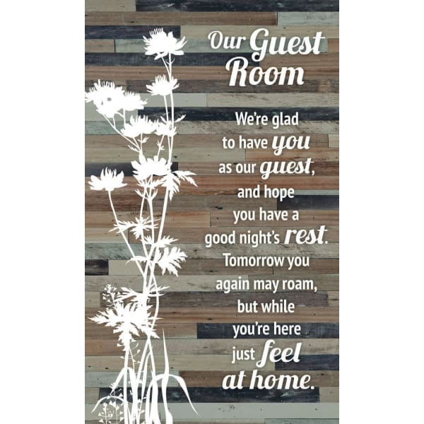 Our Guest Room Wood Plaque Easel