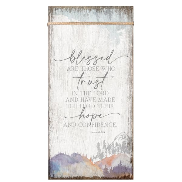 Blessed Are Those Wood Plaque