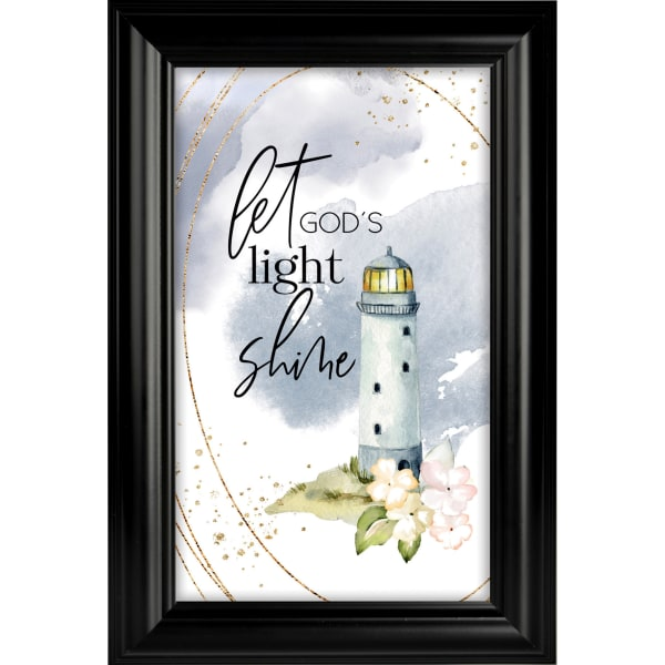 Let God's Light Shine Heaven Sent Plaque Frame