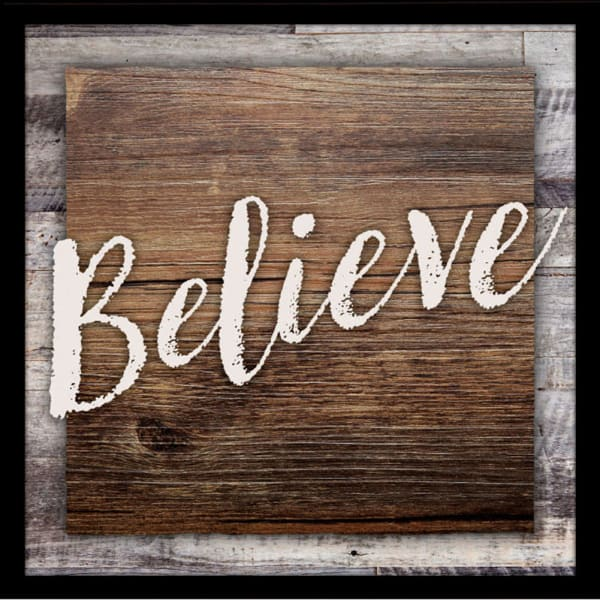 Believe Wood Plaque with Easel