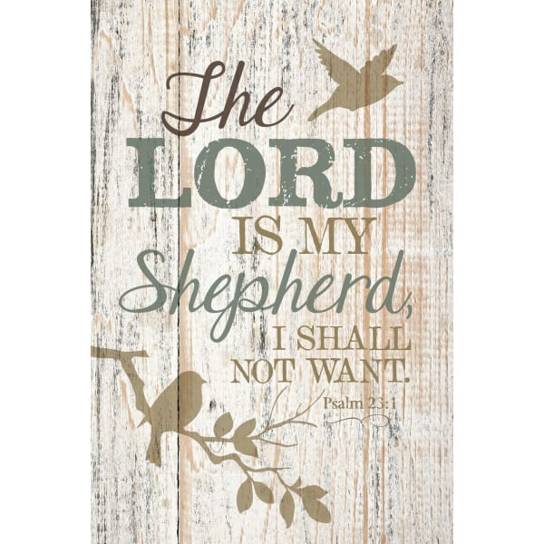 The Lord Is My Shepherd Wood Plaque with Easel