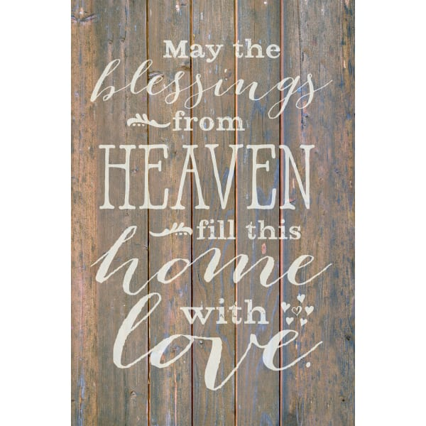 May The Blessings From Wood Plaque with Easel