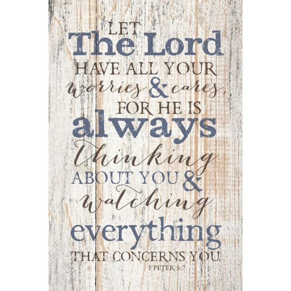 Let The Lord Wood Plaque with Easel