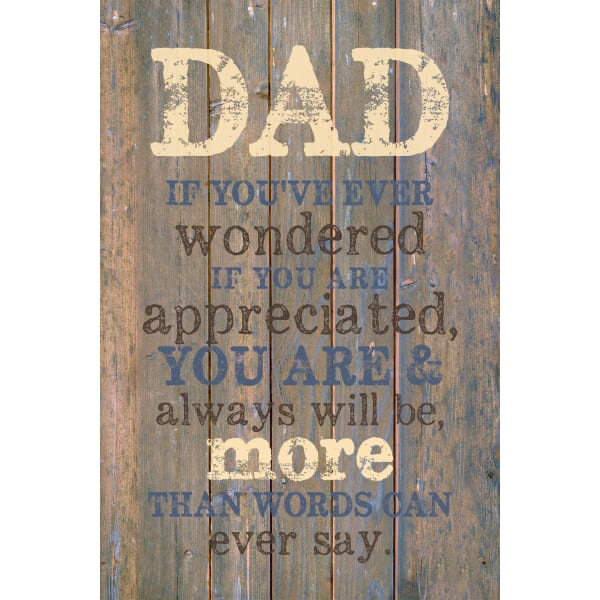 Dad If You'Ve Wood Plaque with Easel