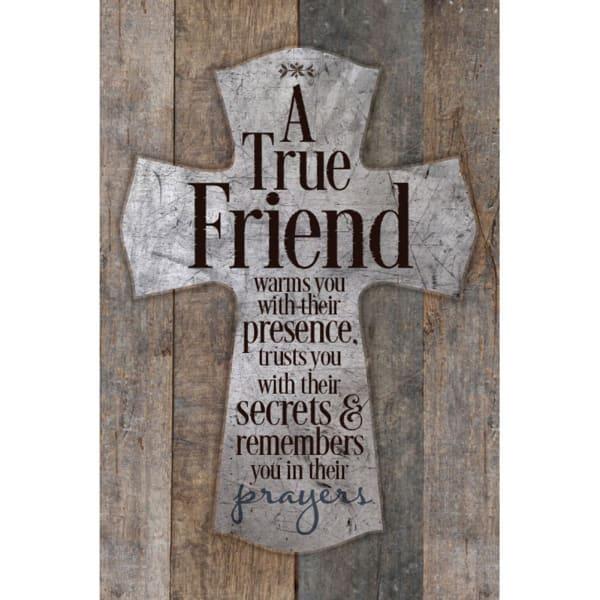 A True Friend Warms You Wood Plaque