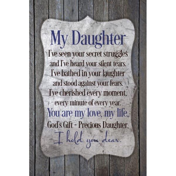 My Daughter Wood Plaque