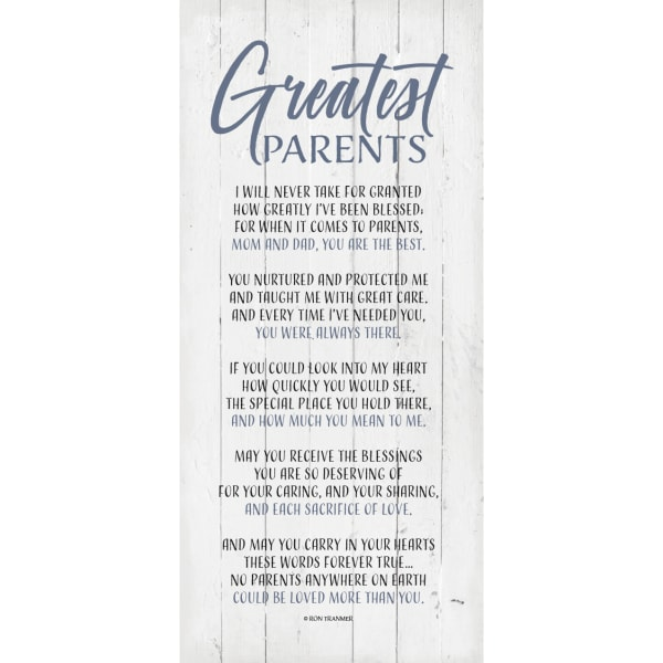 Greatest Parents Wood Plaque with Easel