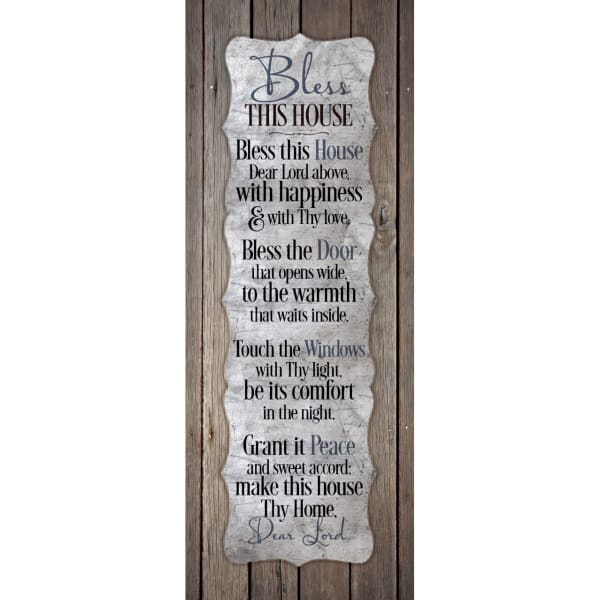 Bless This House Wood Plaque