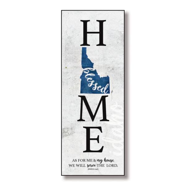 Idaho Home Blessed Wood Wall Plaque with Hanger
