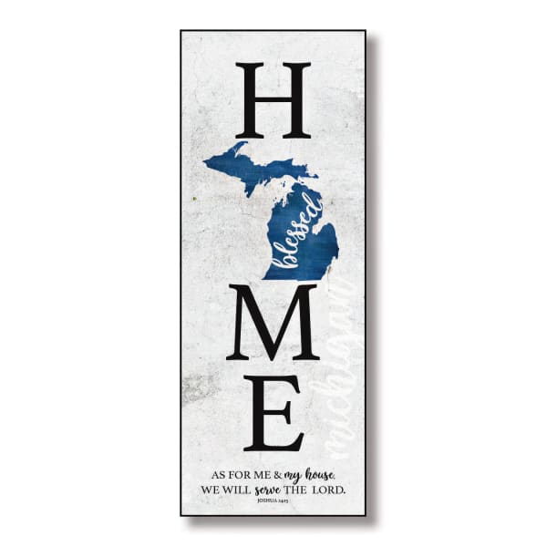 Michigan Home Blessed Wood Wall Plaque with Hanger