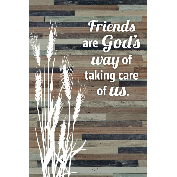 Friends are God's Way of Taking Care of Us Wood Plaque Easel Hanger