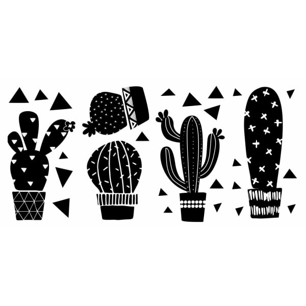 Geo Cactus Peel And Stick Wall Decals