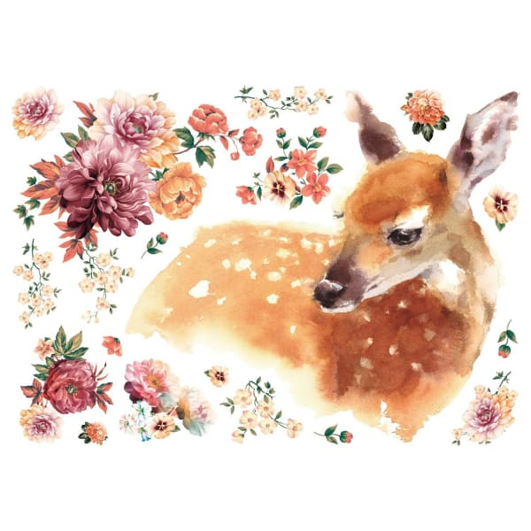 Watercolor Fawn Peel And Stick Giant Wall Decals