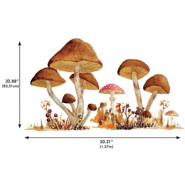 Mushroom Giant Peel And Stick Wall Decals