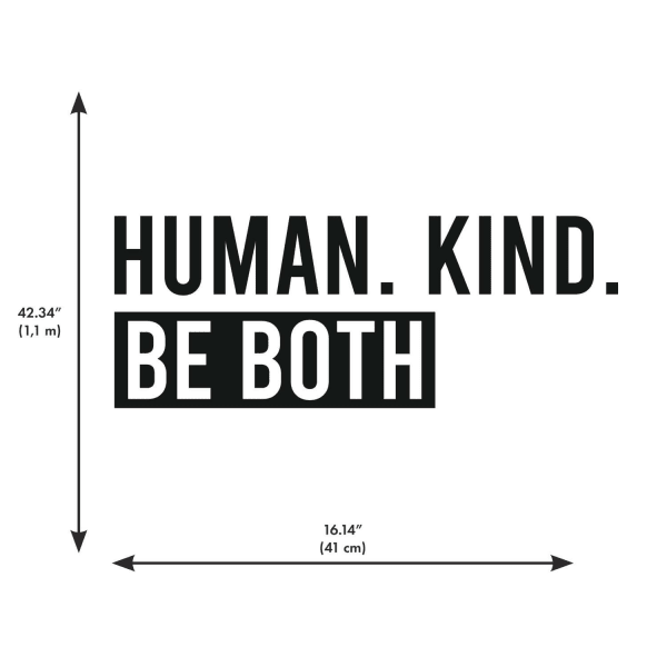 Human Kind Peel And Stick Wall Decals