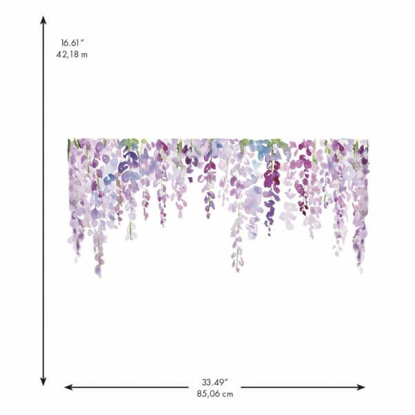 Watercolor Wisteria Peel And Stick Giant Wall Decals