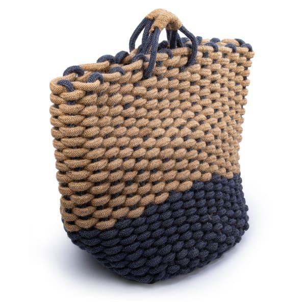 Jute  Navy Storage Basket