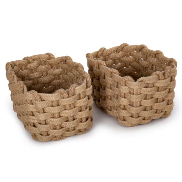 Jute Natural Set of 3 Storage Baskets