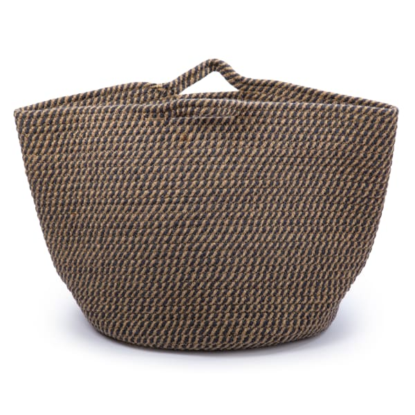 Cotton Rope with Handles Navy Storage Basket