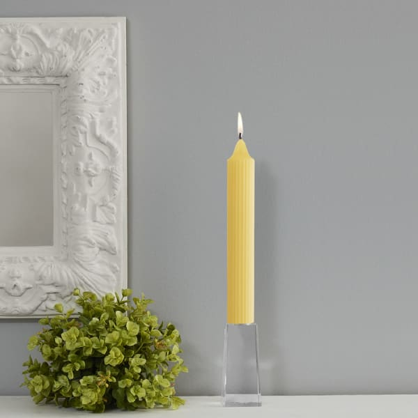 Grecian Yellow Collenette Set of 4 Unscented Candles