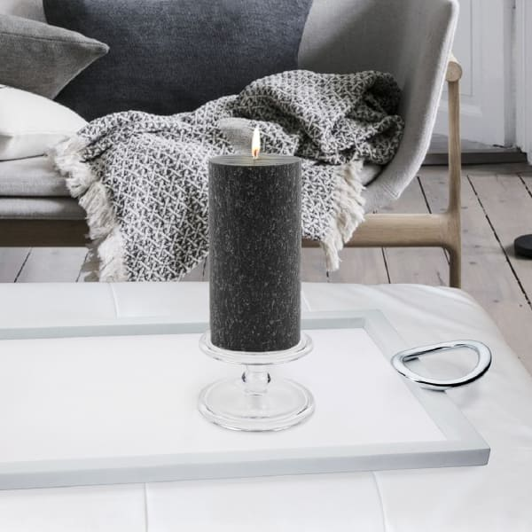 Timberline Black Pillar Unscented Candle