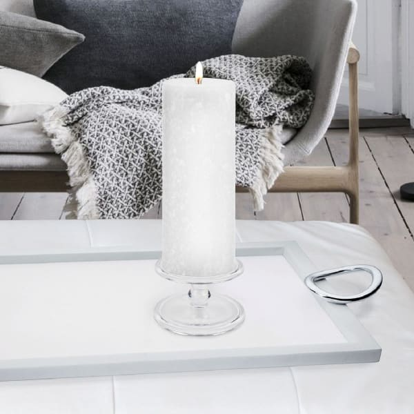 Timberline White Pillar Unscented Candle