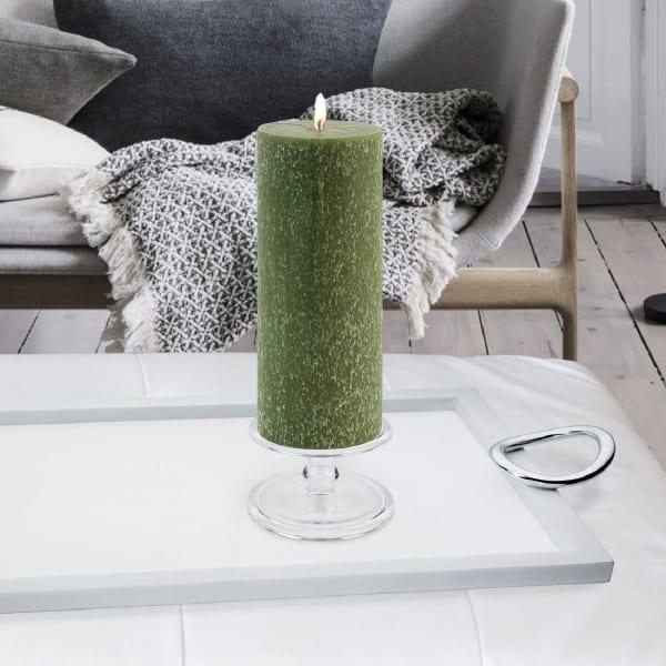 Timberline Dark Olive Pillar Unscented Candle