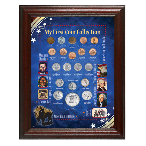 My First Coin Collection Wall Frame
