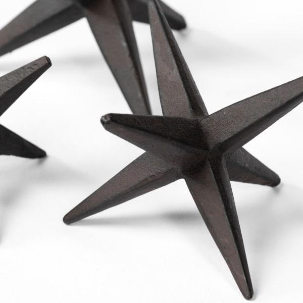 Rhea Brown Cast Iron Small, Medium & Large Set of 3 Jacks