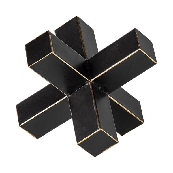 Abel Large Black Metal Jack with Gold Accents
