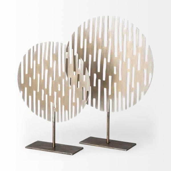 Ezra Small Gold Metal Circular Decorative Object