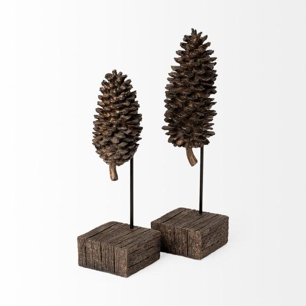 Pinterra Small Brown Resin Pinecone Replica