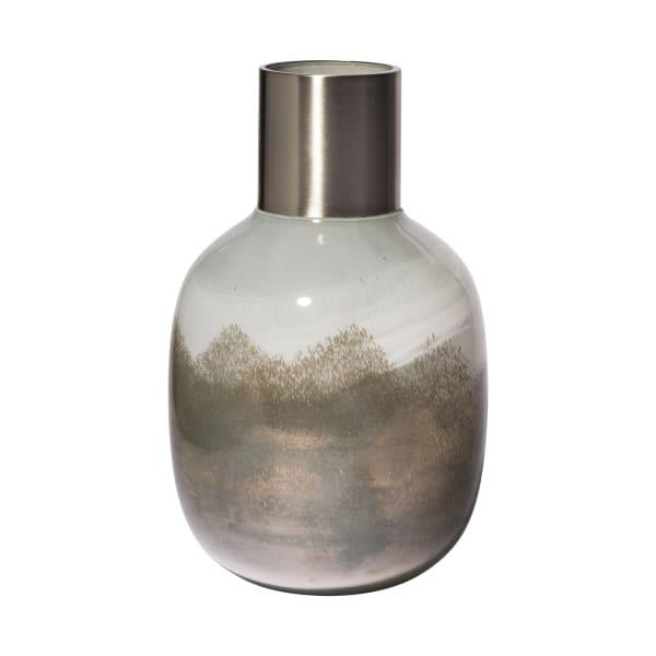 Onega I Short Gradient Blue Glass Gourd Style Vase