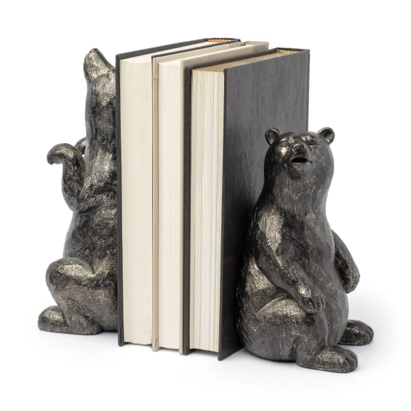 Sleuth Grizzy Bear Set of 2 Bookends