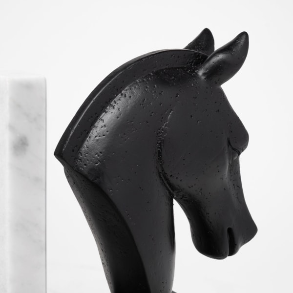 Hidalgo Black Majestic Horse Set of 2 Bookends